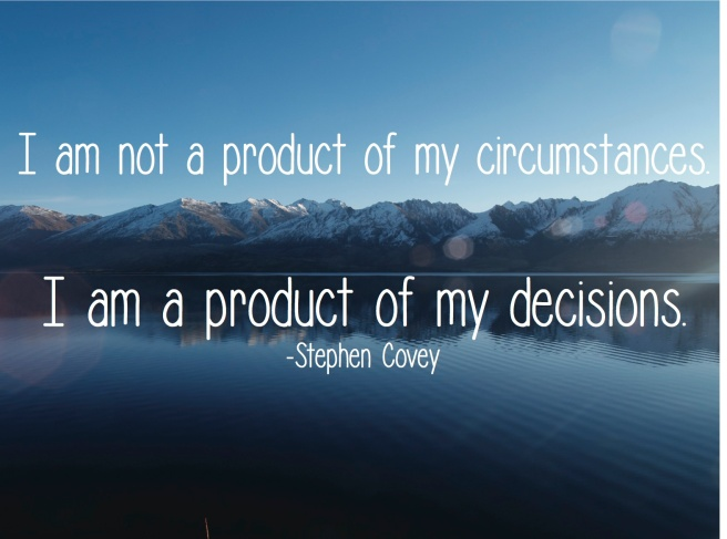 Product of decisions quote
