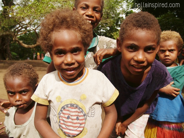 Children of Ima Imesine, Traditional village living in Vanuatu